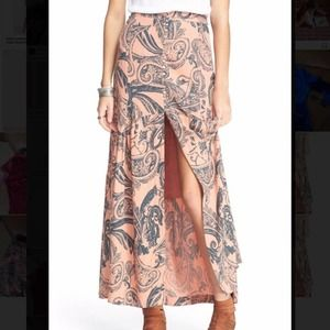 FREE PEOPLE Smooth Sailing Button Maxi Skirt 2